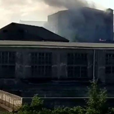 В Советске тушат крупный пожар