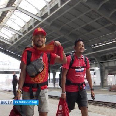 300 болельщиков приехали на поезде на ЧМ-2018 в Калининград