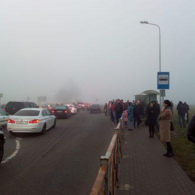 Власти региона объяснили утренний коллапс на выезде из Гурьевска