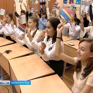 Школьники Янтарного края подключились к единому уроку в формате телемоста