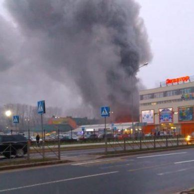 В Калининграде горел рынок «Сельма» (видео)