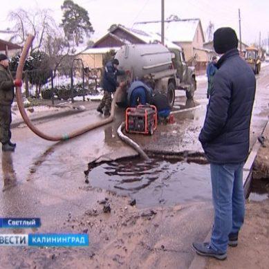 Разлом на дороге в Светлом: городским властям грозит штраф до 300 тысяч рублей
