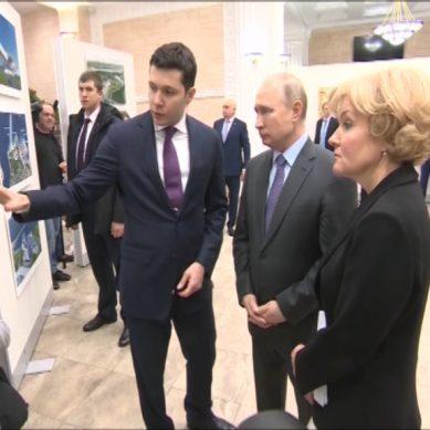 Владимиру Путину показали проекты будущих культурных центров в Калининграде