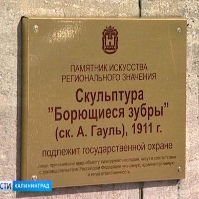 «Борющихся зубров» и памятник Шиллеру приняли на баланс Калининграда