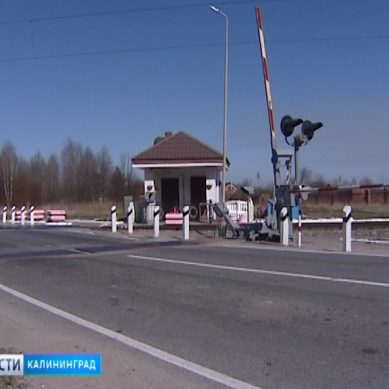 В Калининградской области начали ремонтировать железнодорожные переезды