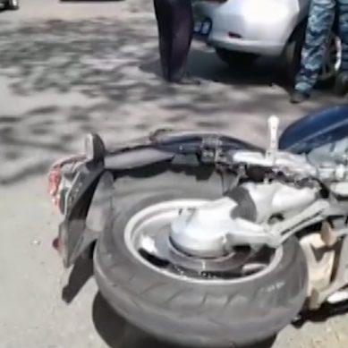 В результате ДТП на Литовском валу пострадал мотоциклист