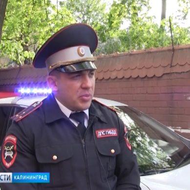 Инспекторы ГИБДД помогли калининградцу доехать до больницы