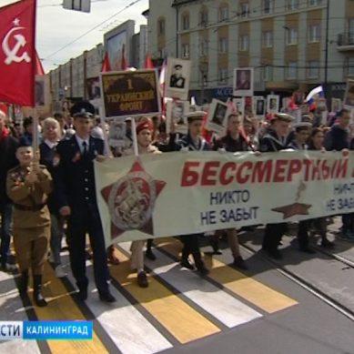 По улицам Калининграда прошел многотысячный «Бессмертный полк»